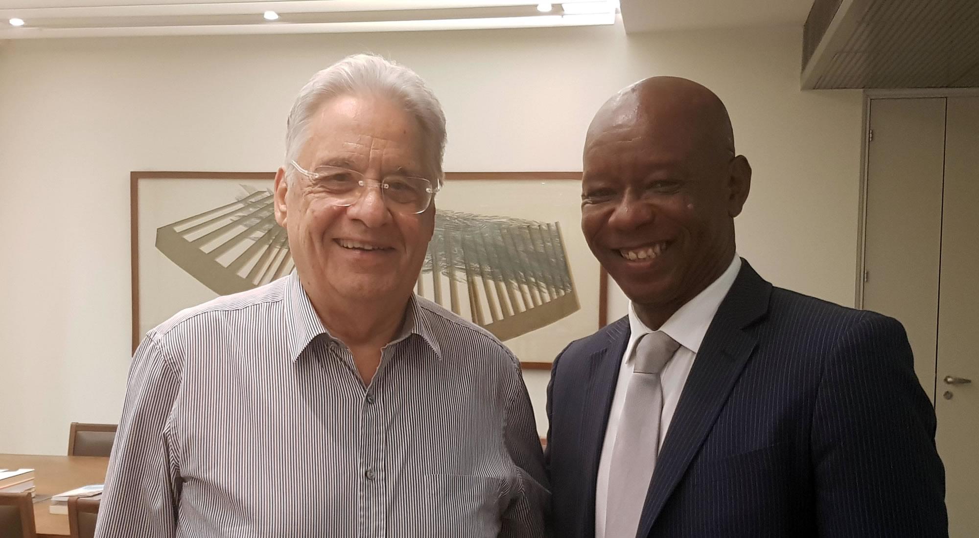 Manuel Cuesta Morúa junto a Fernando Henrique Cardoso